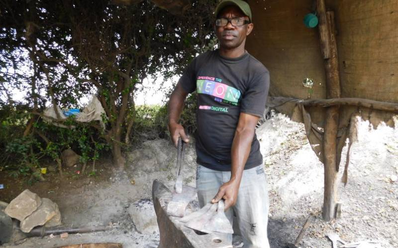 We rarely get orders these days as we used to, says a family of blacksmiths