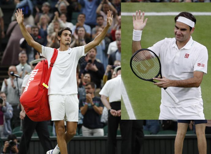 Wimbledon: Golden oldie Federer weathers Sonego storm to reach quarters