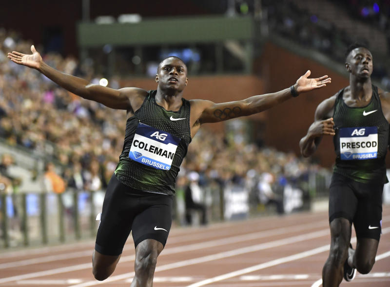 World 100 metres champion Coleman banned for two years, to miss Olympics