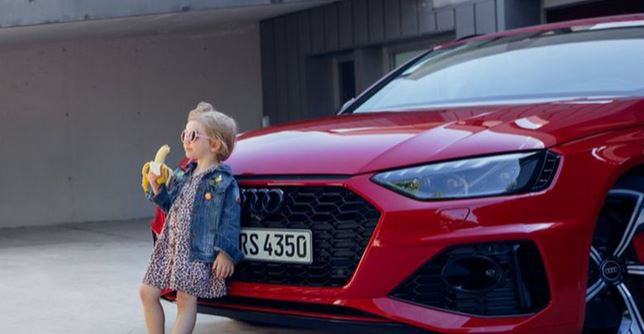 Audi blasted for 'revolting' car advert featuring a little girl eating banana
