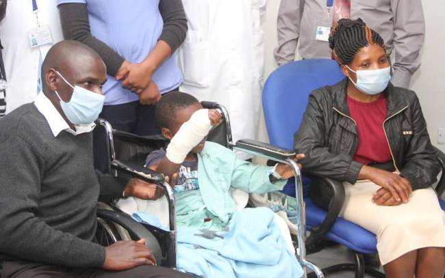 Boy, 7, gets hand reattached at KNH after being chopped off