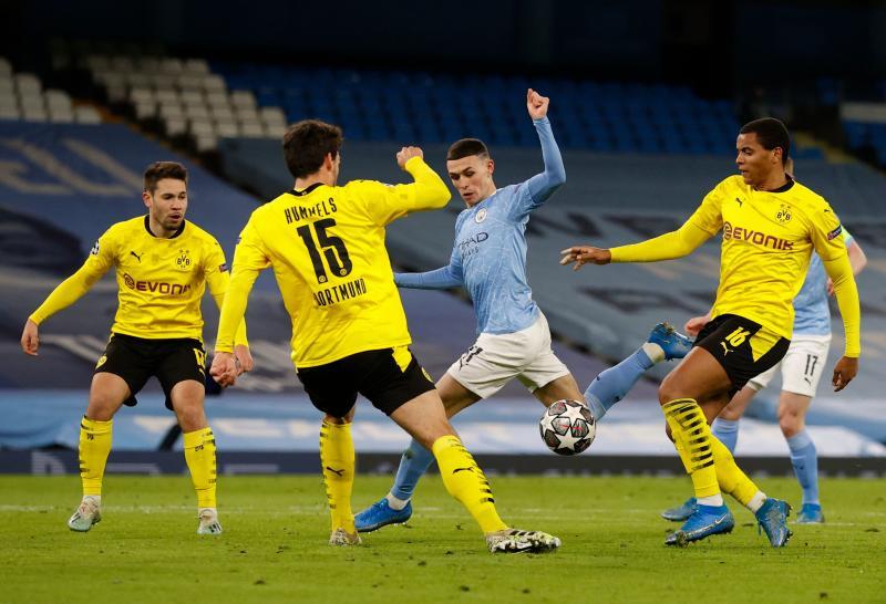 Champions League quarter-final: Man City beat Dortmund with last-gasp Foden winner