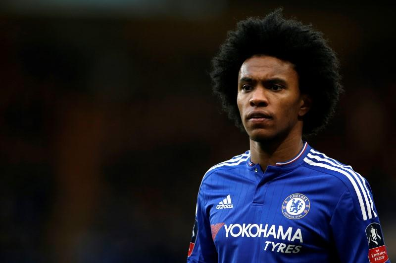 Chelsea winger Willian shown wearing Arsenal kit in leaked clip ahead of transfer move