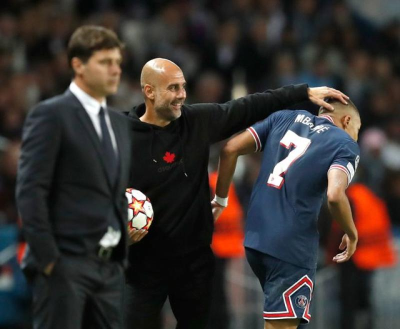 City's Guardiola rues missed chances in PSG defeat