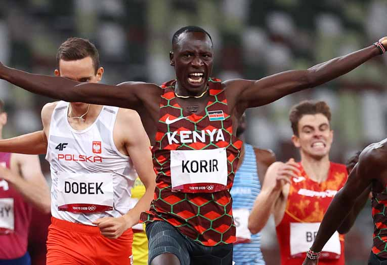 Emmanuel Korir wins Kenya's first Gold at Tokyo Olympics