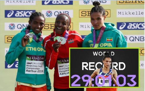 Ethiopia's Gidey breaks Hassan's two-day-old 10,000m world record
