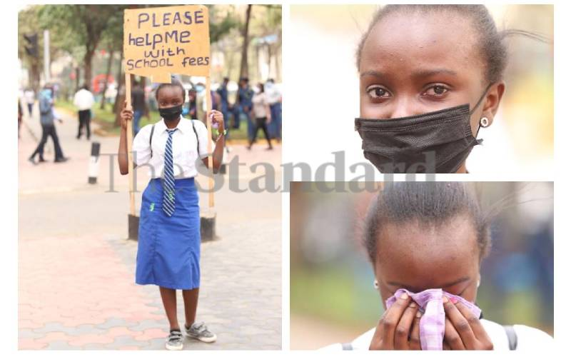 Form Two student begs for school fees in city streets