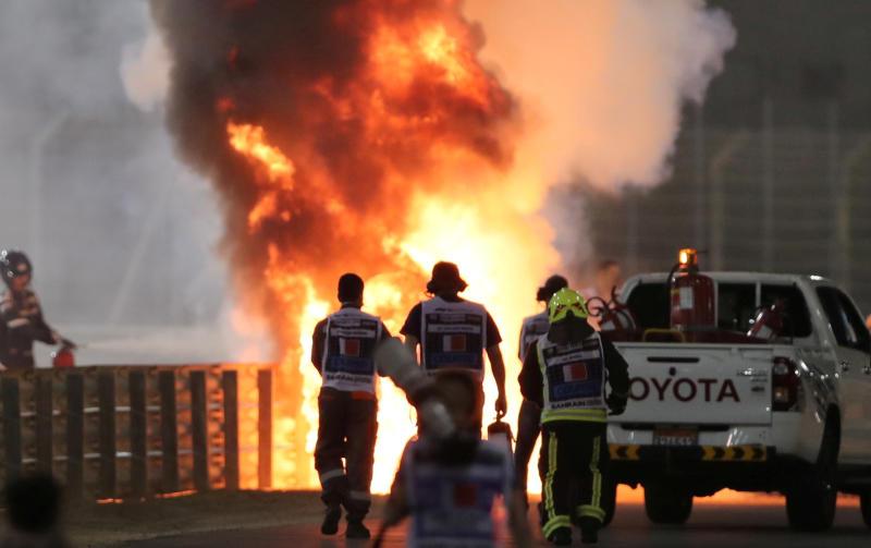 French driver leaves Bahrain hospital after fireball crash