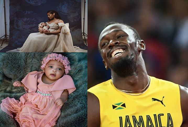 Here's Olympia Lightning – Usain Bolt shares first photos of baby girl