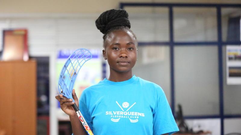 How Kenyan star juggles between hockey, floorball