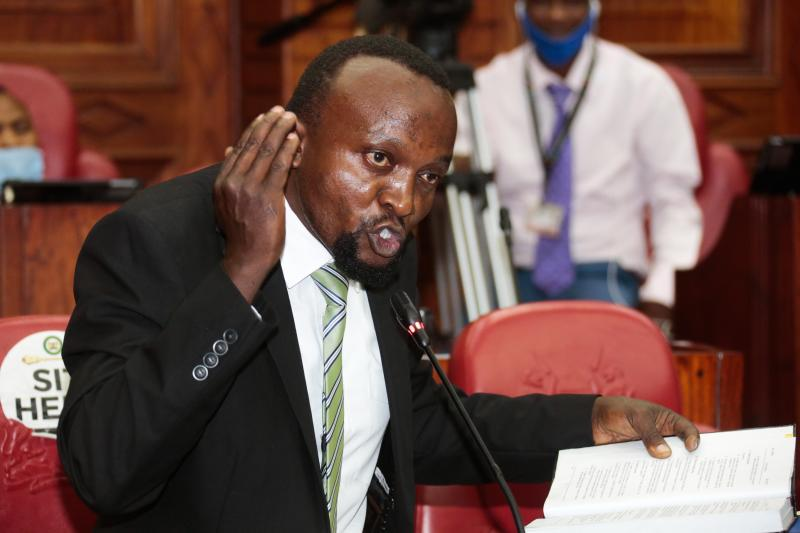 Kirinyaga County Assembly lawyer Ndegwa Njiru (Photo: Boniface Okendo, Standard)