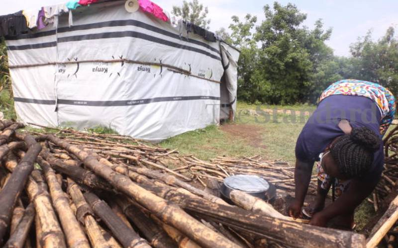 Inside the IDP camp where flood victims go for days without food