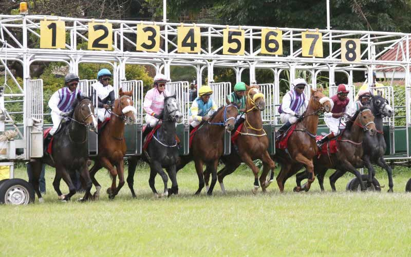 Horse racing at Ngong Racecourse