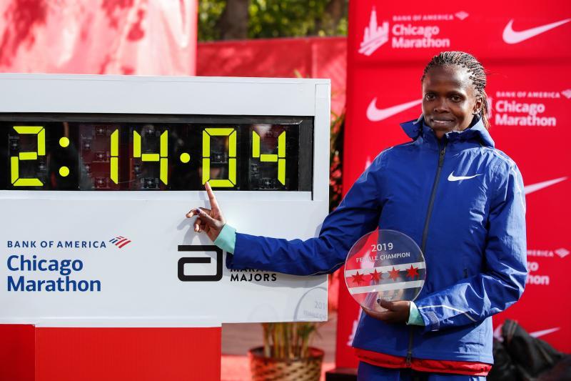 Kosgei gutted as Chicago Marathon cancelled over virus fears