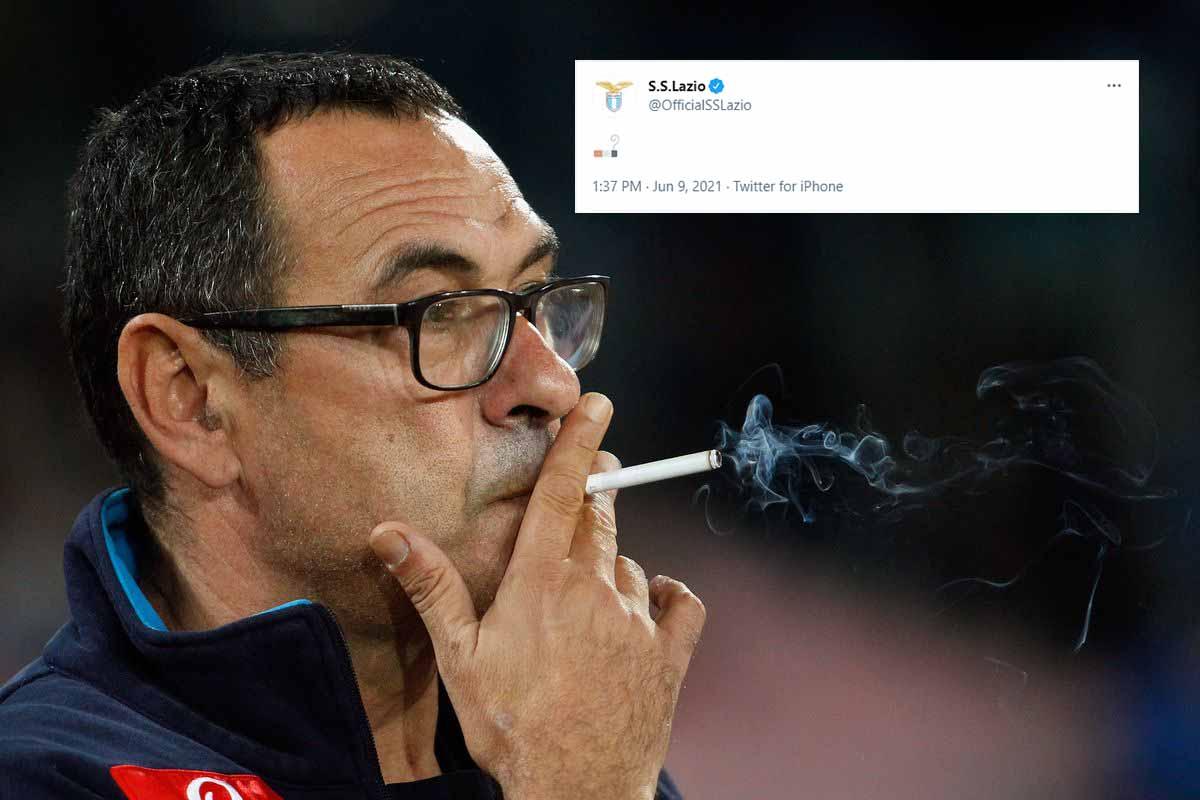 Lazio use cigarette to announce Maurizio Sarri's appointment