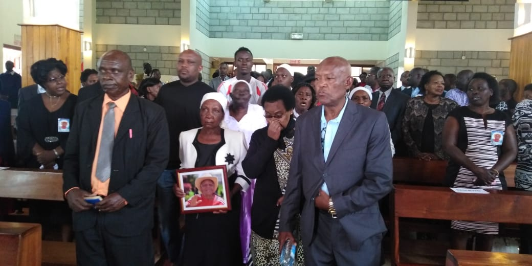 Friends and family at the memorial service of Joe Kadenge at Friends International Church, Nairobi (Photo: Ernest Ndunda)