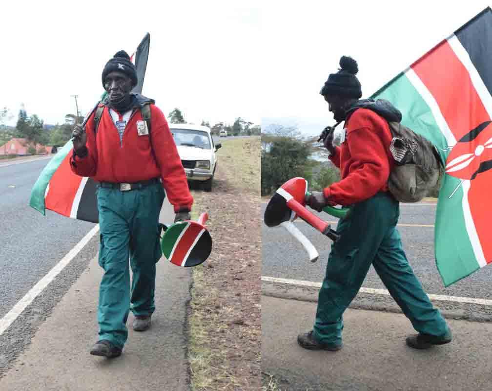Man who walked 230km overcomes hurdles to watch Mashujaa fete live