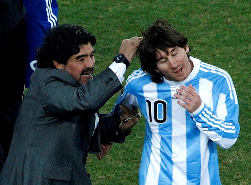 Maradona's son asks Messi to give up No.10 shirt at Barcelona and Argentina