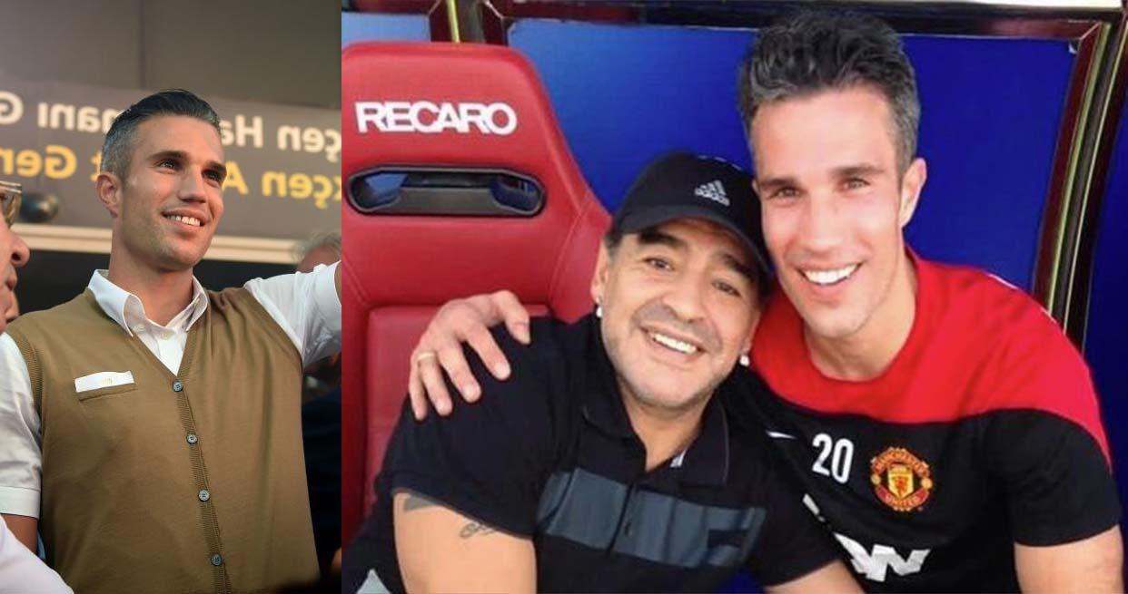 Maradona's special message for Van Persie during 'wonderful' Dubai meeting