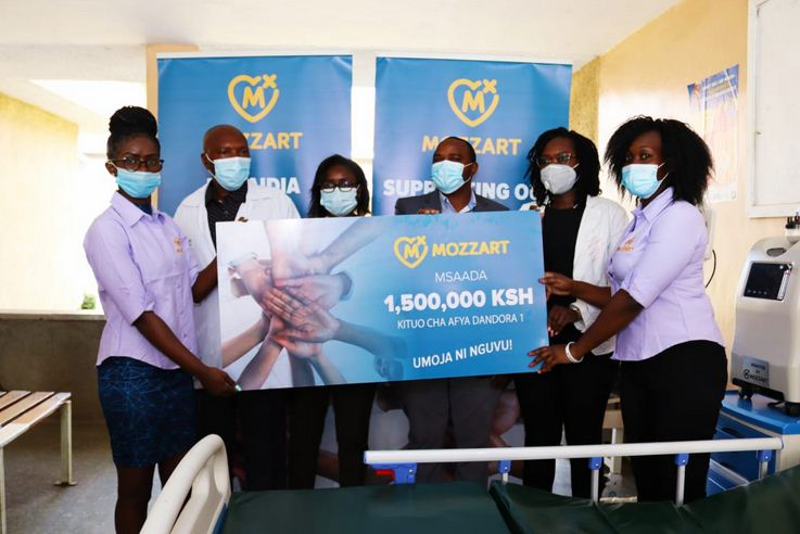 Mozzart donates ICU equipment worth Ksh 1.5 million to Dandora 1 Health Center in Nairobi