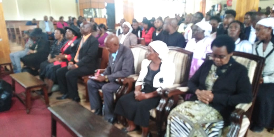 Joe Kadenge's memorial service at Friends International Church, Nairobi (Photo: Ernest Ndunda)