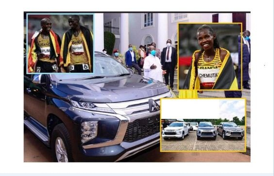Museveni gifts luxurious vehicles to Ugandan Olympic medalists, promise to build houses for gold medalist