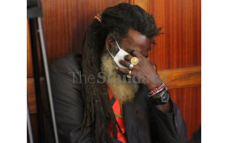 Omar Lali sobs uncontrollably during Tecra Muigai's death inquest