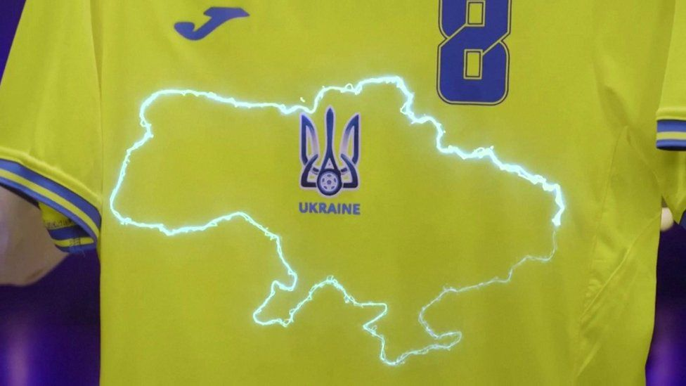 Russia complains to UEFA over Ukraine's football kit with map featuring Crimea