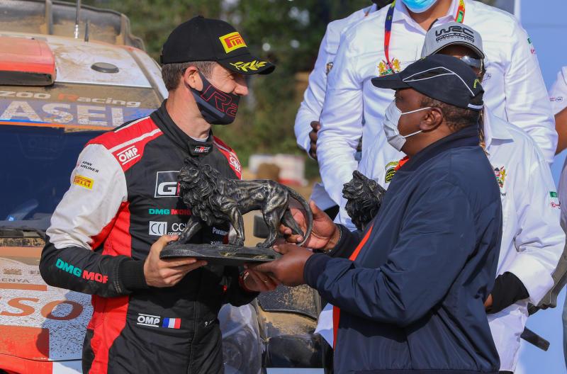 Safari Rally winner Ogier celebrates Kenya, donates over Sh2.5m to children's project, conservancy