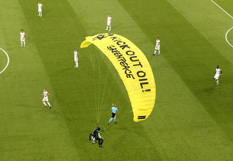 Several people in hospital after parachute protest before France v Germany