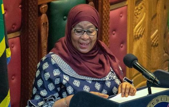 Suluhu receives first Covid-19 jab as she launches vaccination drive