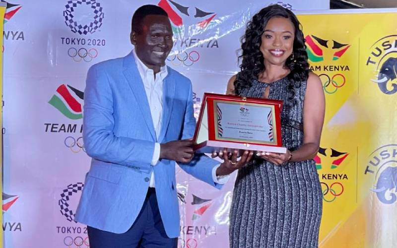 The National Olympic Committee honours Kenya Charity Sweepstake during Athletes Gala