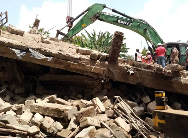 Three trapped, several others injured as building collapses