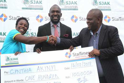 Onyango pockets January SJAK prize