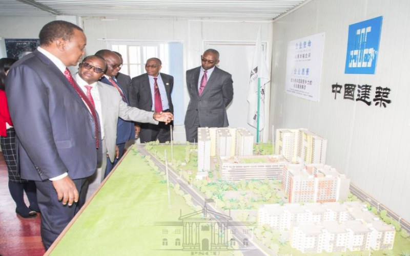 President Uhuru inspects housing, road projects