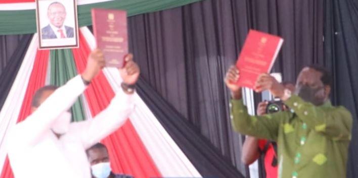 Uhuru and Raila receive final BBI report