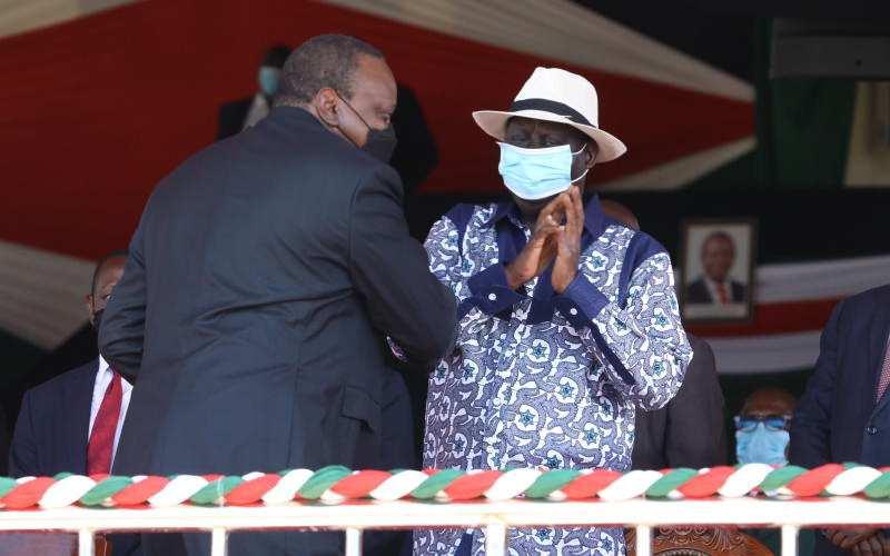 Uhuru's kind words on Raila set tongues wagging