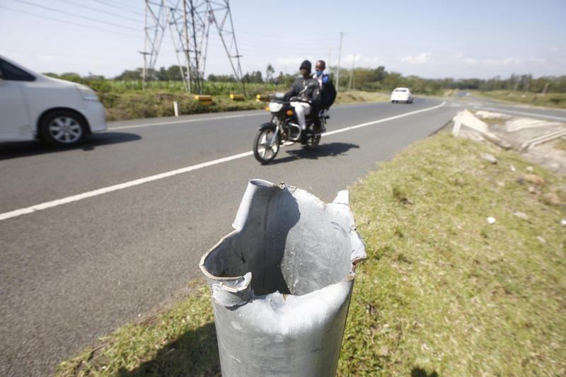 Vandals destroy road signs and guardrails leaving death traps