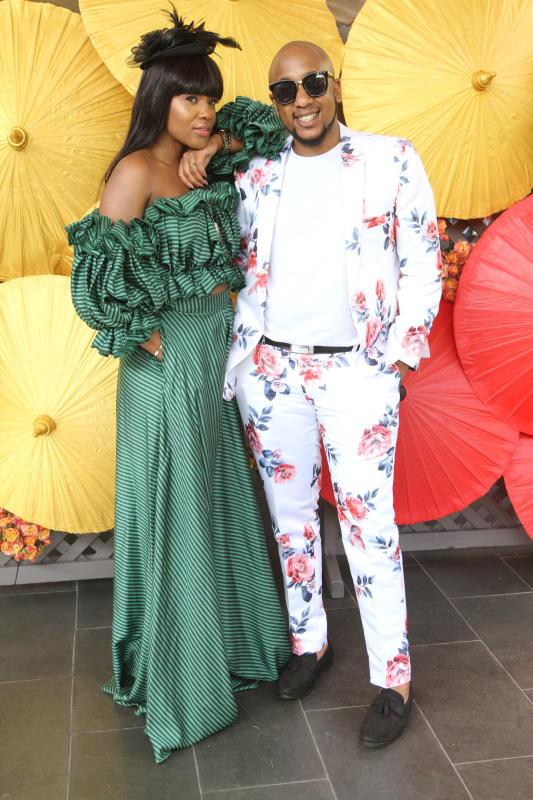 Juliet Kavasa (left) and Jayson Mbogo During Fashi