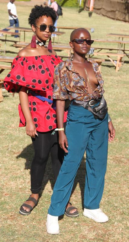 Valary Ambati and Keziah Mumbi pose for a photo du
