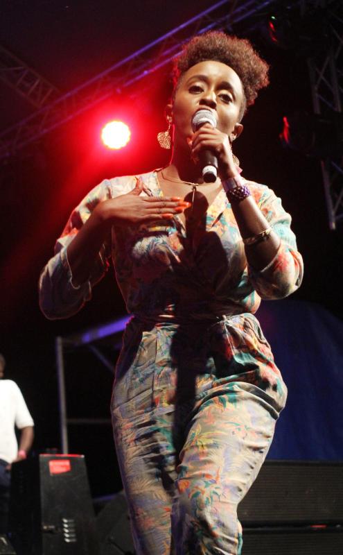 Kenya's Nadia Mukami during ushering in of the New