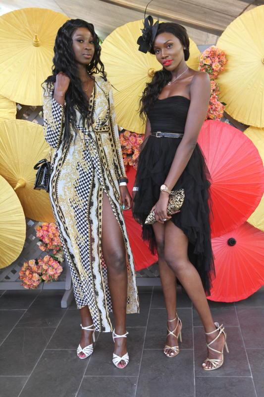 Gloria Atkins and Juliet Mose During Fashion HighT