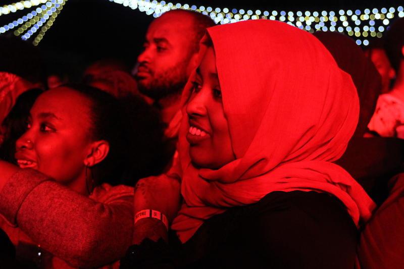 Nairobi residents during ushering in of the New Ye