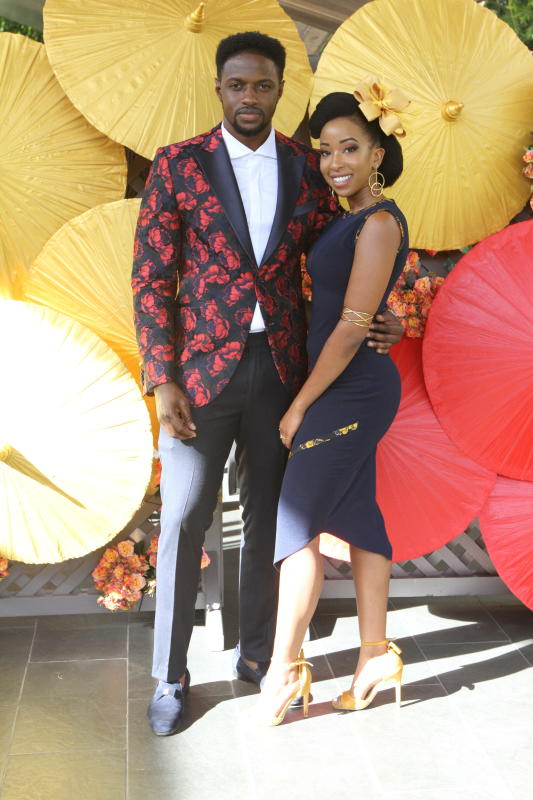 Moses Mukiibi (left) and Natalie Tewa During Fashi