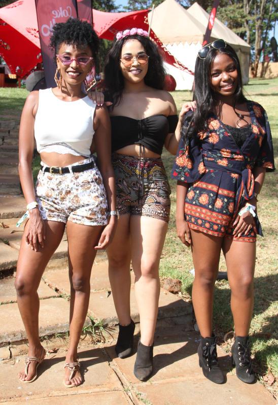 Joyce Maina,Lindsay Lulu and Wakio Mwangoma pose f