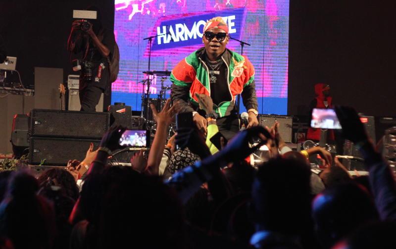 Tanzania's bongo star Harmonize during ushering in