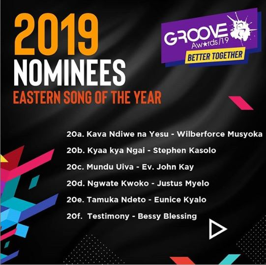 Groove Awards Nomination 2019