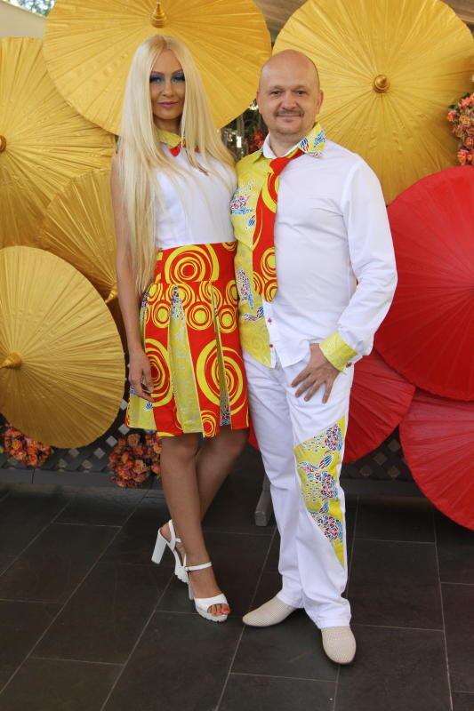 Lolita Kozyreva and Yuri Kozyreva During Fashion H