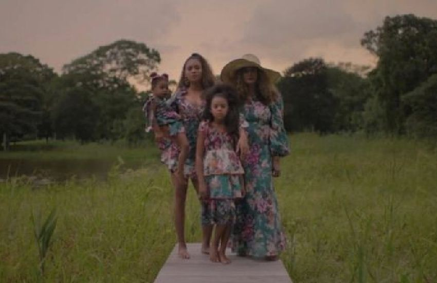 Beyoncé gives fans glimpse of rarely seen twins Rumi and Sir in new visual album