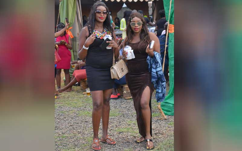 Welma Wamuyu and Snazzy Gitau at the Koroga Festiv